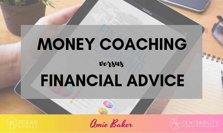 Money coaching versus financial advice….
